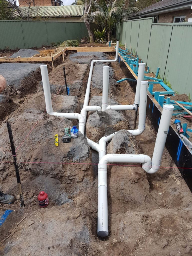 Sydney residential plumber - Gymea works in progress